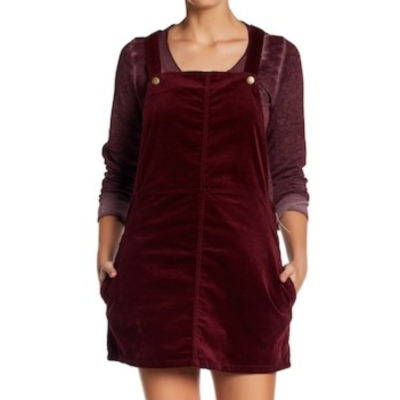 f8053410d9a Abound Dresses   Skirts - Abound burgundy corduroy overalls jumper dress